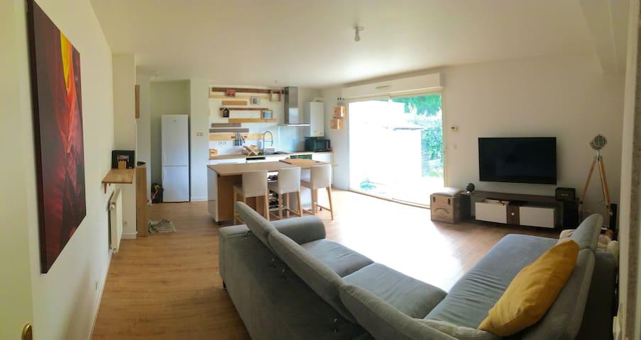 Appartement calme avec jardin, proche de Bordeaux - Artigues-près-Bordeaux - Flat