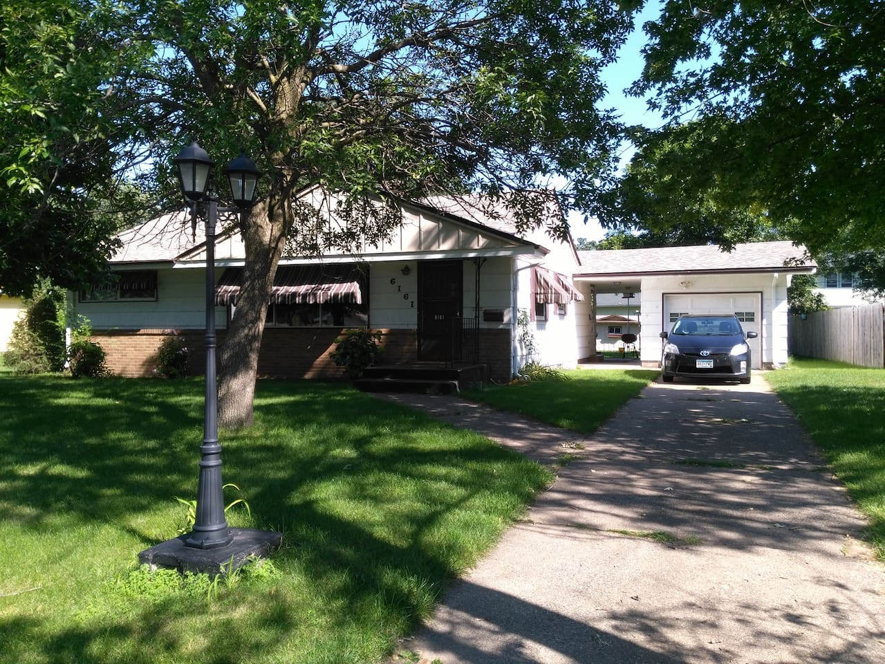 Pleasant 50's style rambler with finished basement. I have no pets in the house, but pets are welcome.