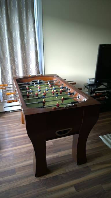 Settle your quarrels over a game of foosball!