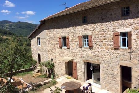 Maison  en pierre avec piscine - Bourg-Argental - Dom