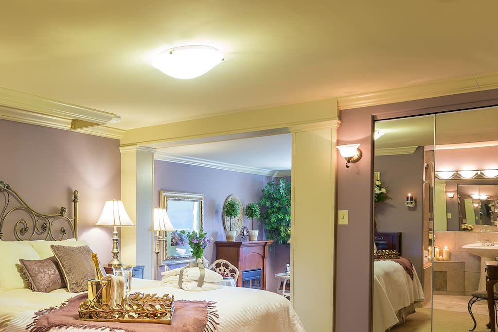 Our Imperial Suite has a king bed and beautiful ensuite