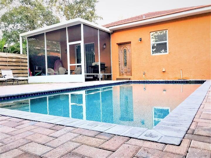 H-Excelente 3Habs/2Baños Villa cerca de Siesta Key