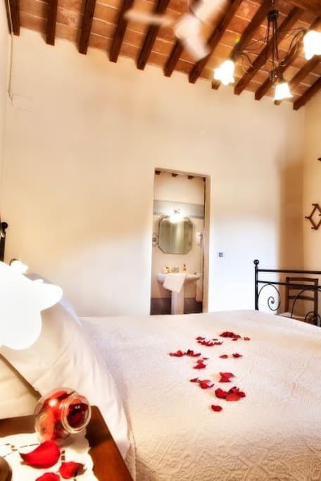 Private room with bathroom - Palazzo Massaini - Agriturismo Cavarciano