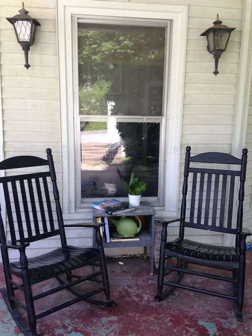 Enjoy rocking on the front porch with a nice book.