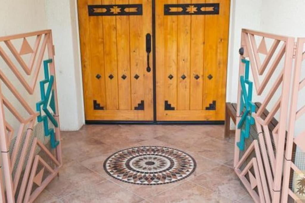ENTRANCE with INLAYED TILE DECOR