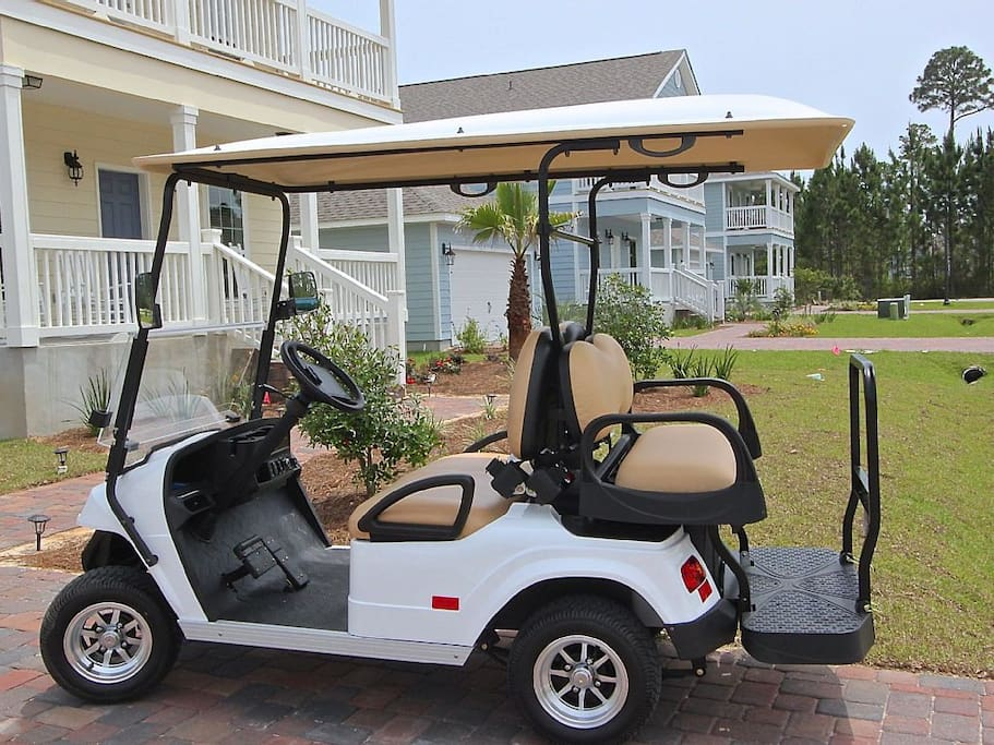A Brand New Golf Cart to Take to the Beach, Restaurants and Shopping is included (normally would be $100/day to rent!)