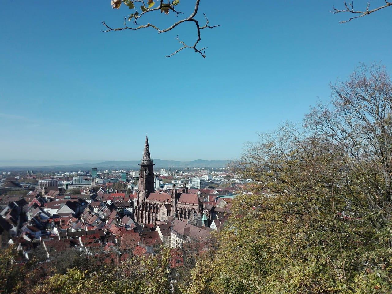 Freiburg - Blick vom Schloßberg