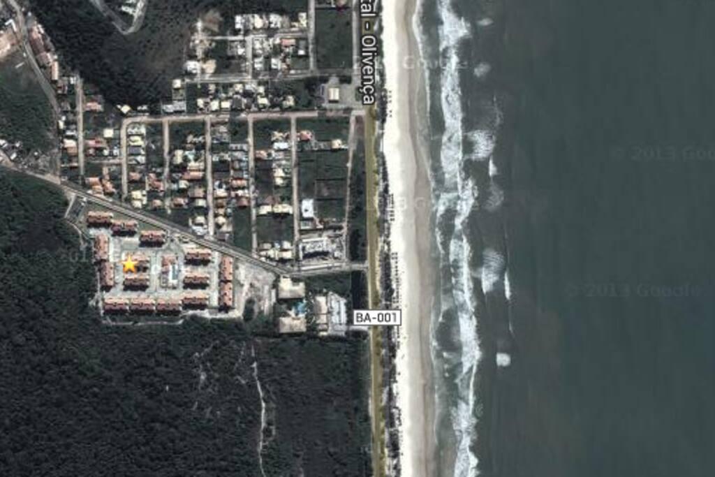 Como chegar? BA001, km4 - Rodovia Ilhéus Olivença (foto de satélite)
