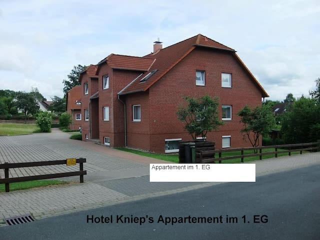 Apartment for 1-4 Persons, Garage!