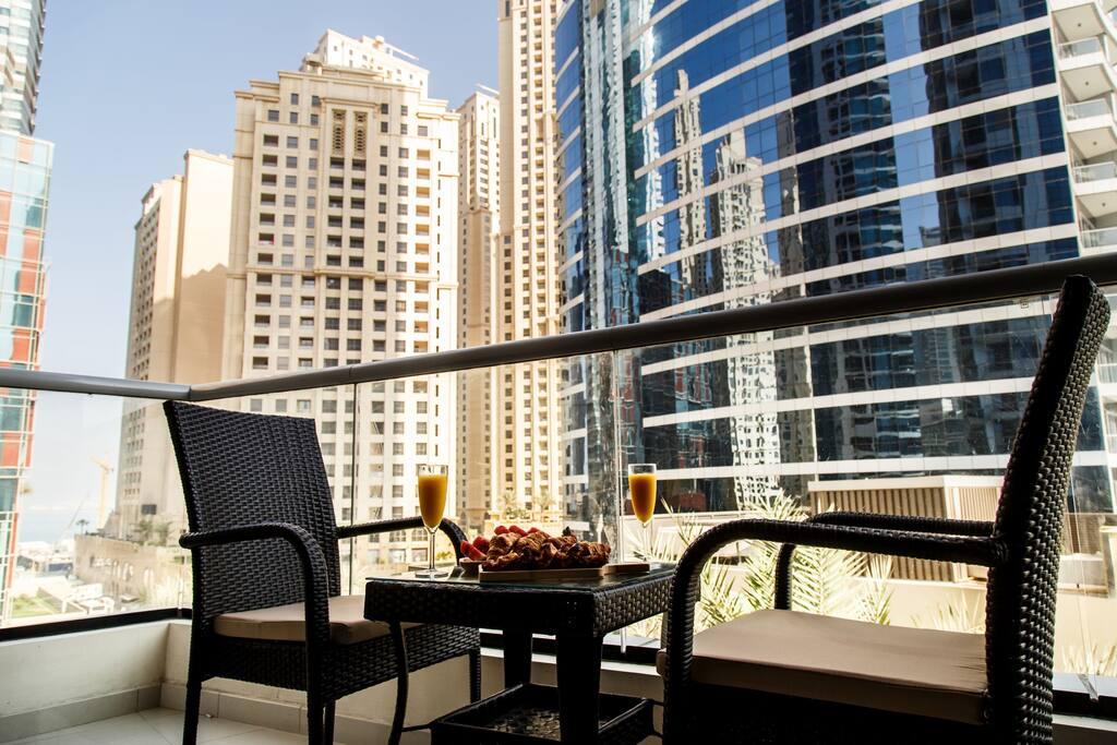 View of Dubai Marina furnished apartment