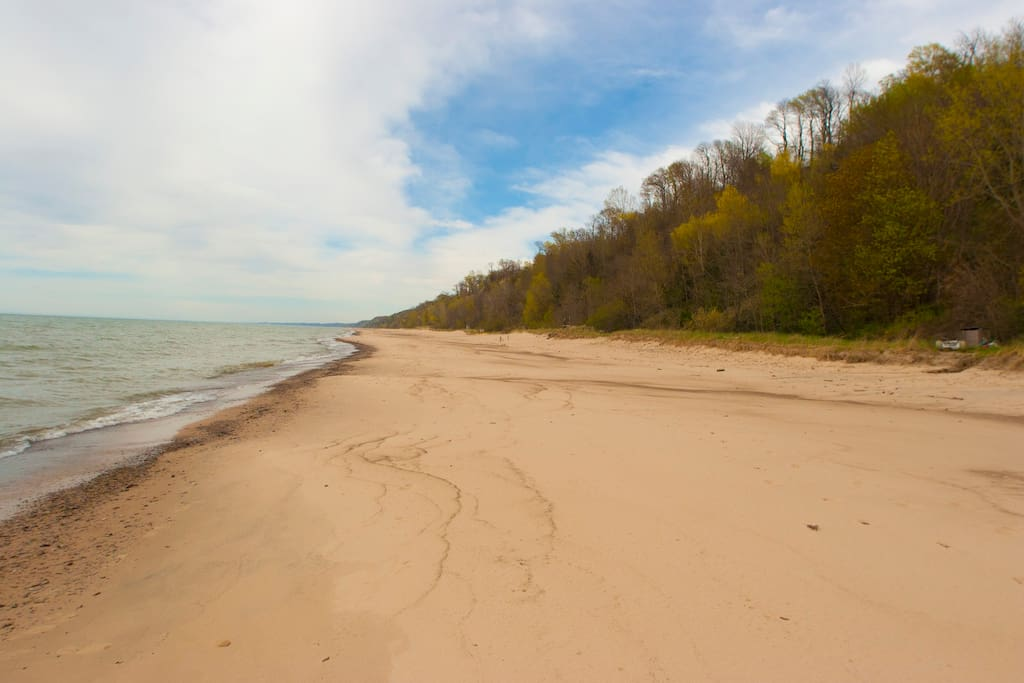 Our shared, sandy, Lake Michigan Beach!