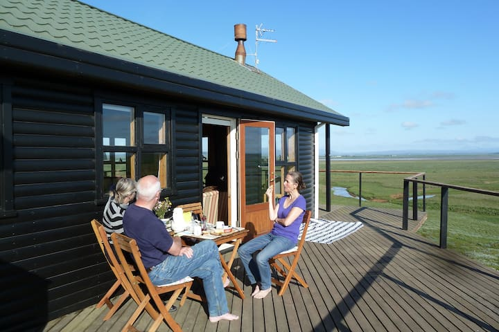 Wonderful cottage - view to Hekla - Hella - Cabane
