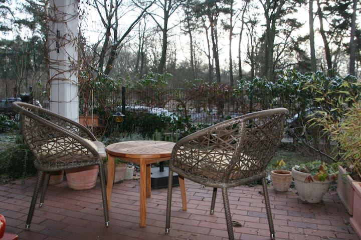 Patio with view in the park