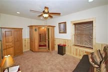 Bedroom, Memory Foam Mattress with 2 Person Sauna