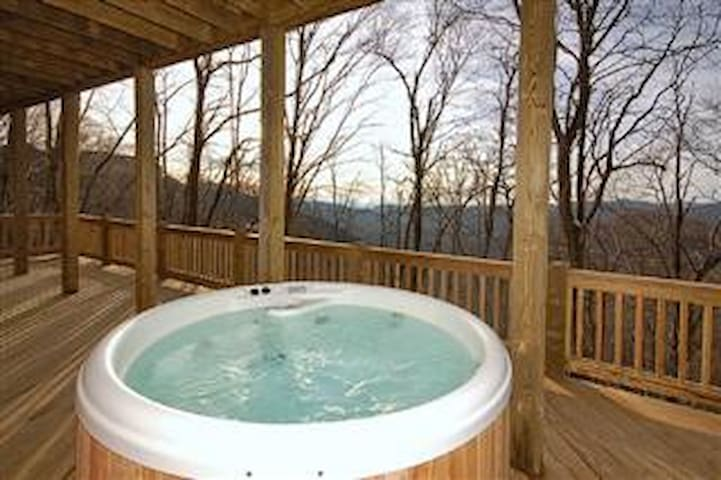Hot Tub and View from Deck