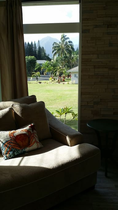Sit and read a book while enjoying the beautiful views of the Bali Hai mountains behind you.
