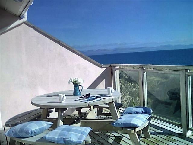 Balcony overlooking the Sea.