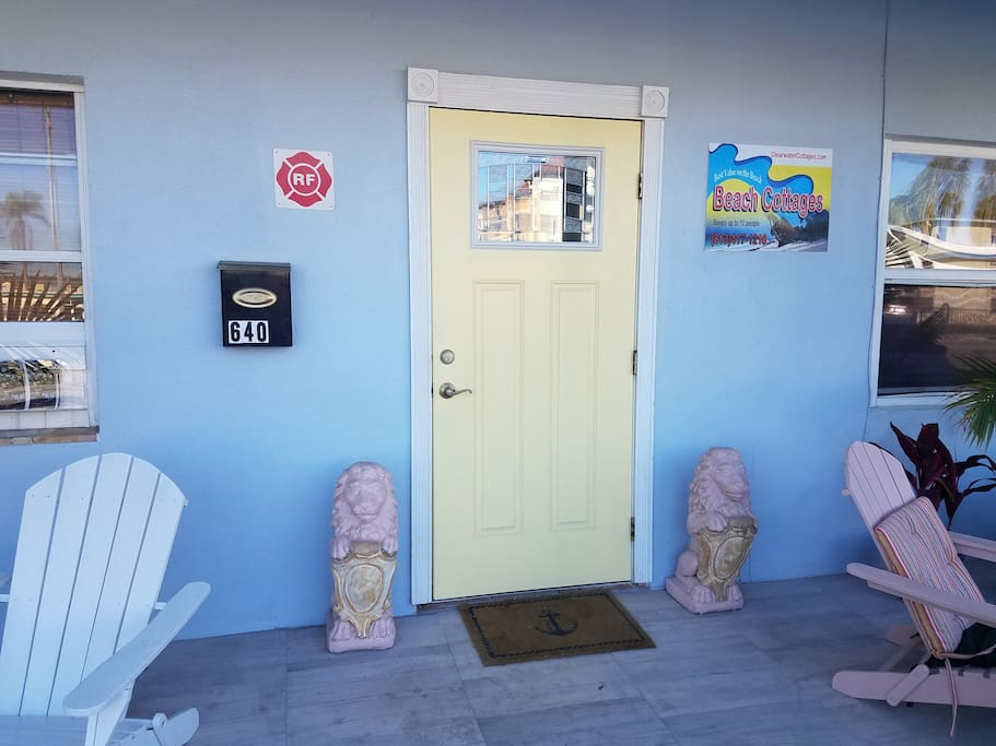 Entrance to New Orleans Beach Apartment