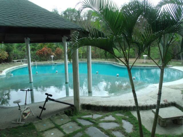 piscina en medio del bosque, relax total..