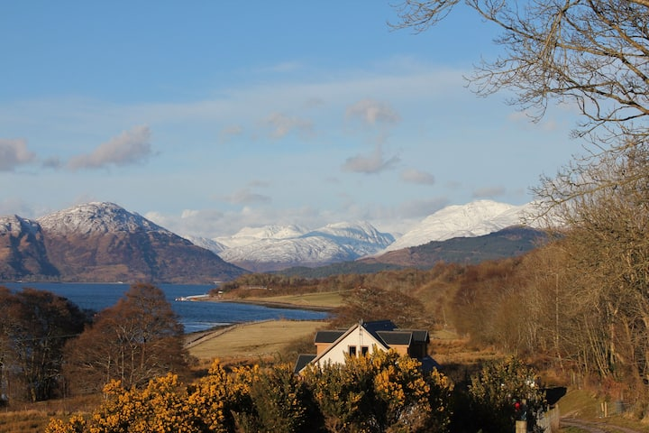 Creran Reef, spectacular loch views  & sunsets, pet friendly
