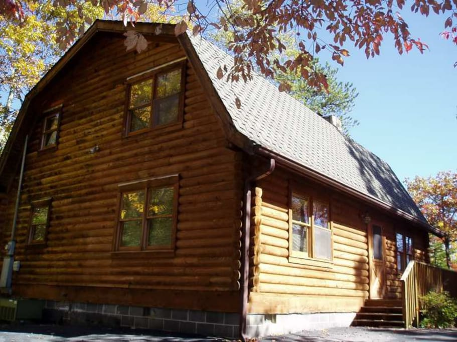 Luxury Mountain Log Cabin Houses For Rent In Gatlinburg