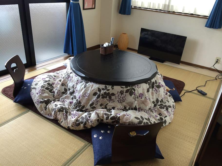 This is Japanese traditional KOTATSU!