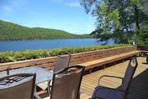 expansive view from cottage deck