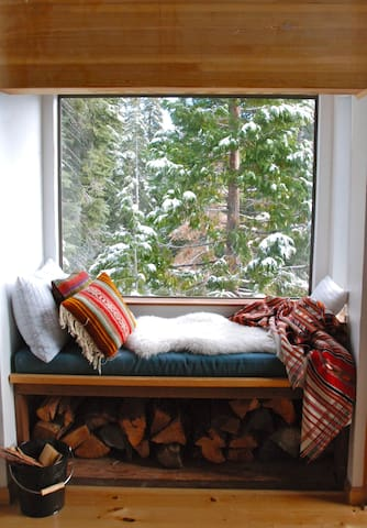 One of the many good places to curl up and enjoy the view.