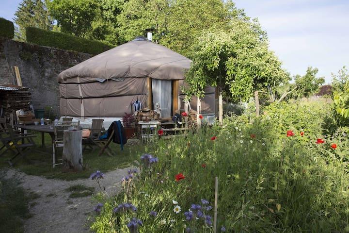 Modern Yurt in a garden of Eden