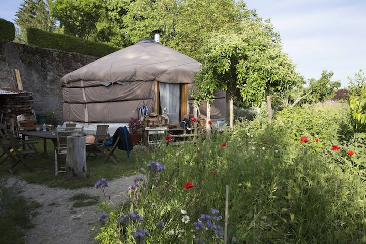 Modern Yurt in a garden of Eden