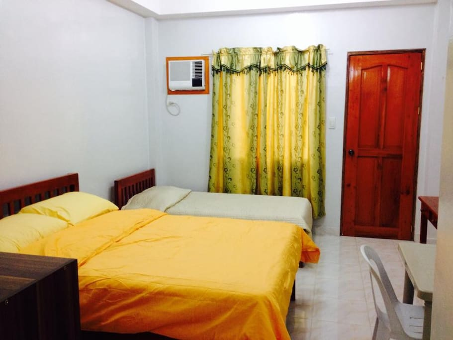 Double bed & Single bed (for 3rd extra person)