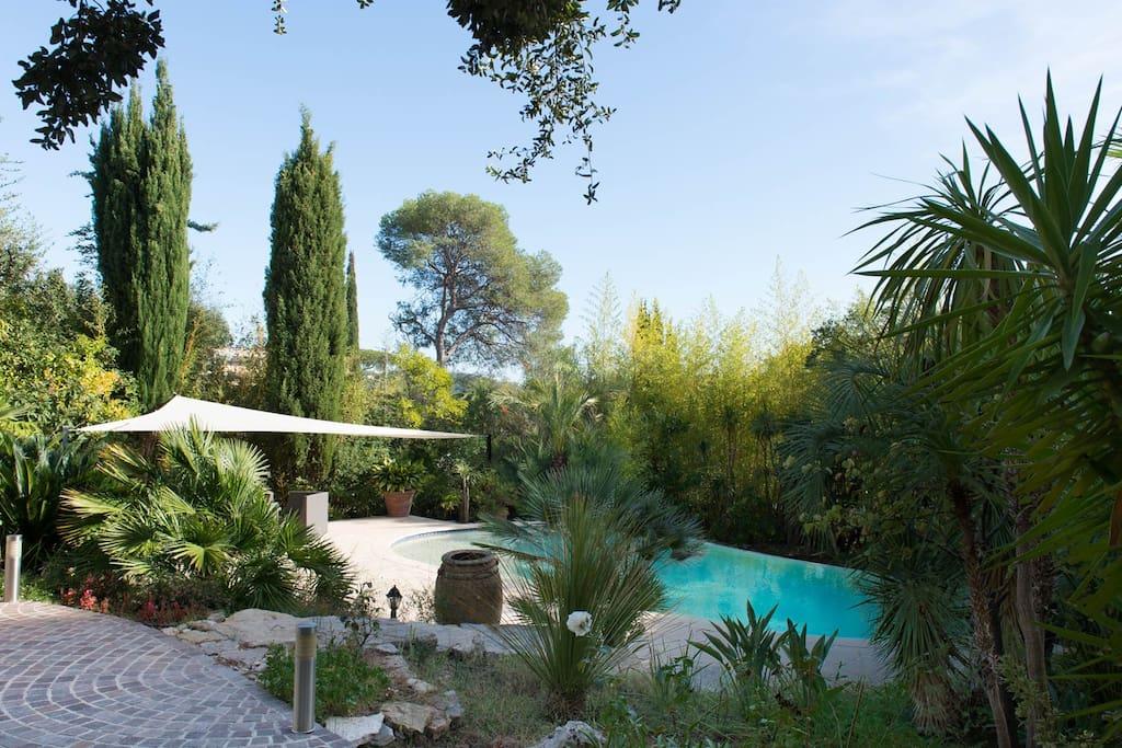 Belle villa luxuriant jardin et piscine chauff e - Jardin a l italienne ...