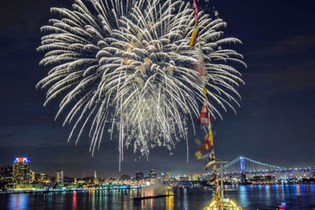 Where to Celebrate New Year's Eve in Philly ...Fireworks,  Battleship New Jersey, Sugar Casino.   See:    visitphiladelphia.com