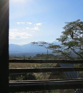 Blackbird cabin bamboo Bungalow - pai - Alpehytte