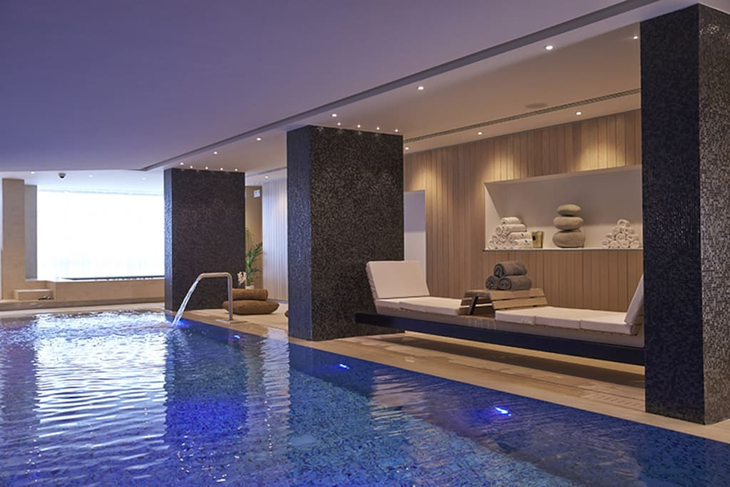 Spa access for two. The pool.