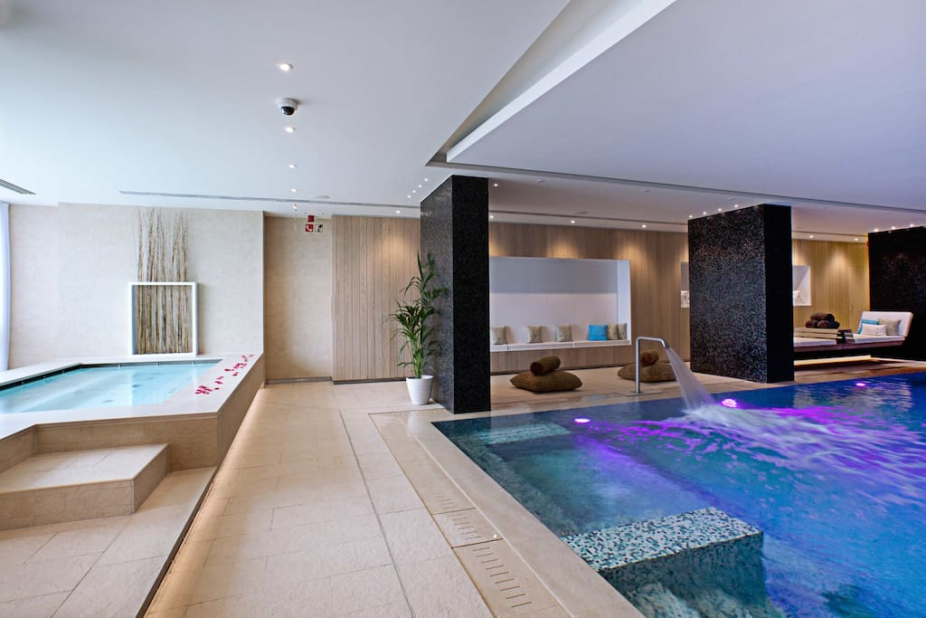 Spa access for two.