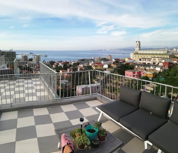 LOFT 3floors  w/ 360ºValparaíso's view Hill&Beach