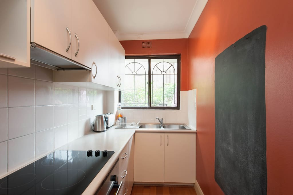 The kitchen has great storage, is modern and clean. Fully fitted with utensils, appliances, pots and pans; all to make your stay as relaxing as you need it to be.