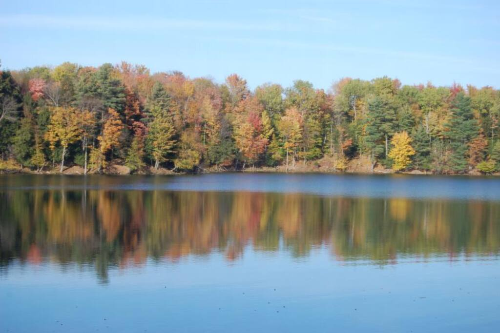 Wonderful Fall Getaway. Echo Lake in the Fall.