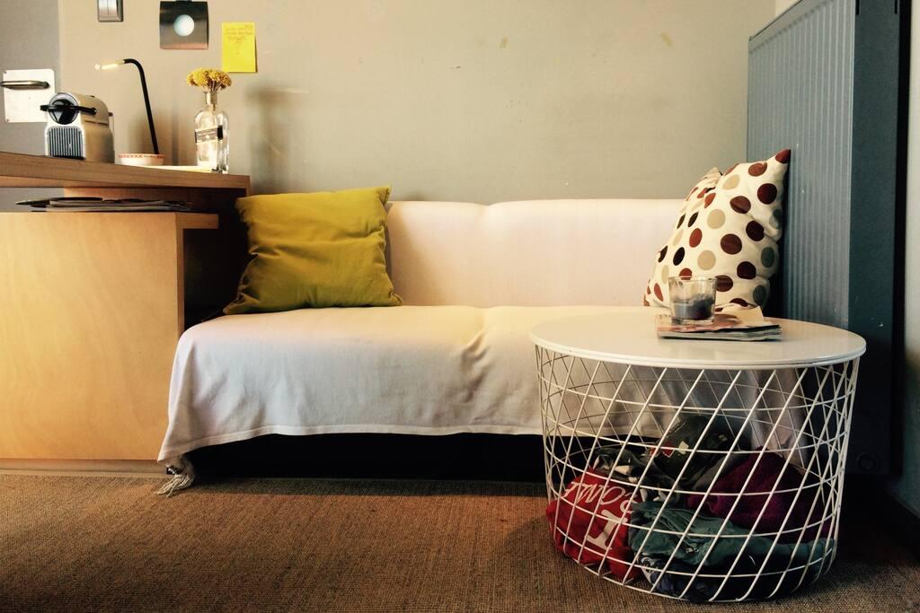 Our cozy sofa