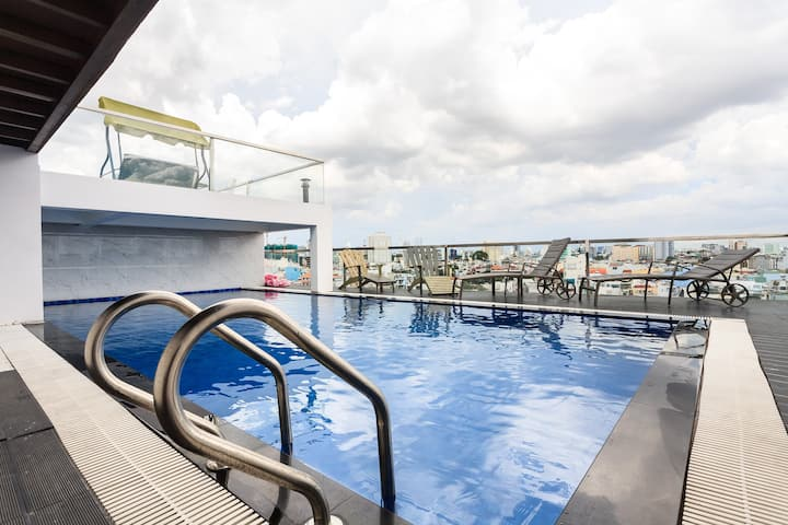 Center D3 Sweet Apt Free Access to Sky Pool