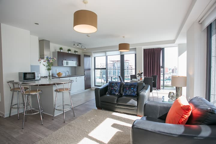 Modern 2 bed apartment in Grand Canal Quarter