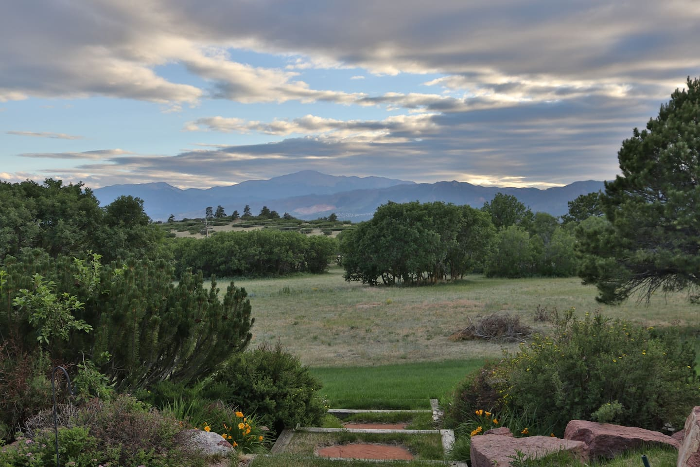 Pikes Peak from our backyard - even better in person :)