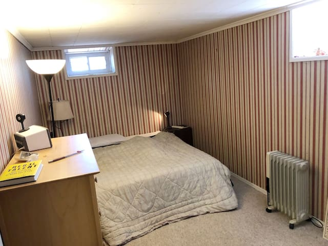 Bedroom in Large Finished Basement  Apartment