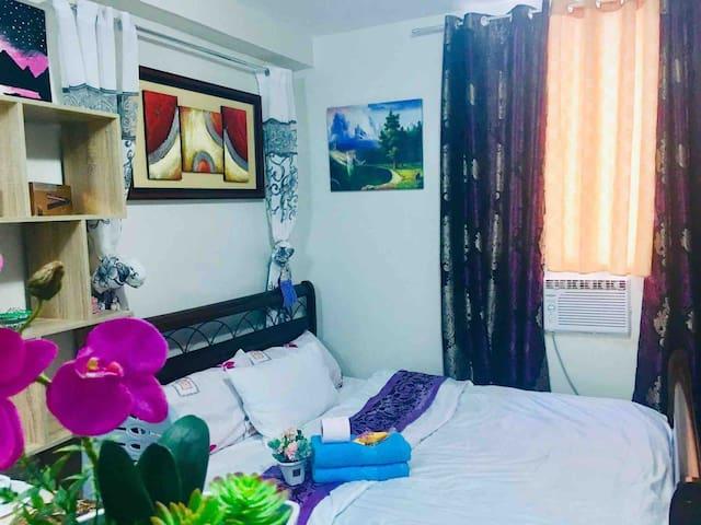 Mactan Cheaper Condocation 3 Beds +Fast Wifi +Pool