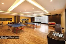 Games room at the clubhouse.   Clubhouse can be used at a nominal charge of Rs 100/visit