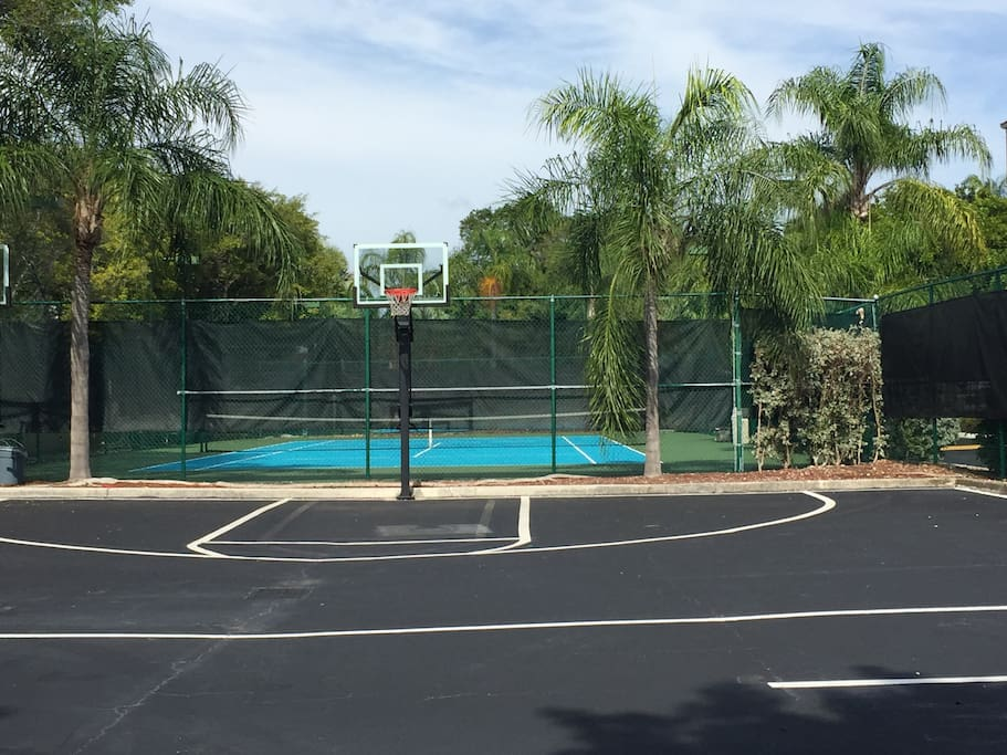 Community has tennis and Basket ball courts