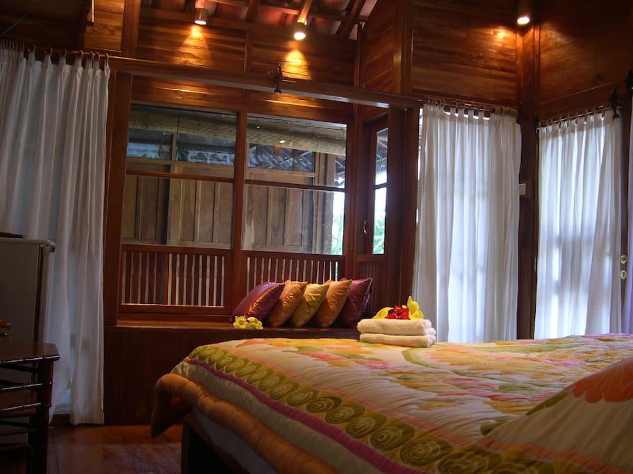 Your room made of Teax wood and glass