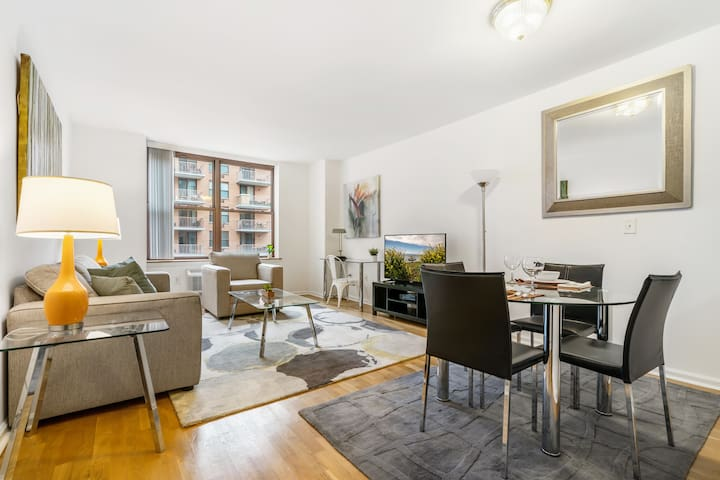 Bright Hoboken 1BR | minutes to NYC | by GLS