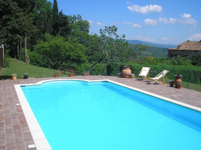 Charming stone house with 12m pool  - Caprese Michelangelo - House